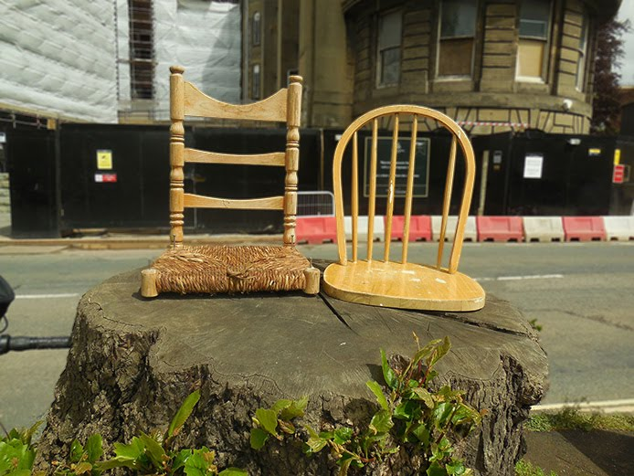 Lara Luna Bartley, Bristol, urban intervention, tree stumps, chairs