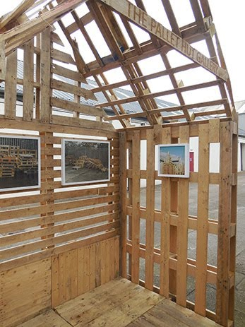 Lara Luna Bartley, Bristol, urban intervention, pallet, hut, gallery